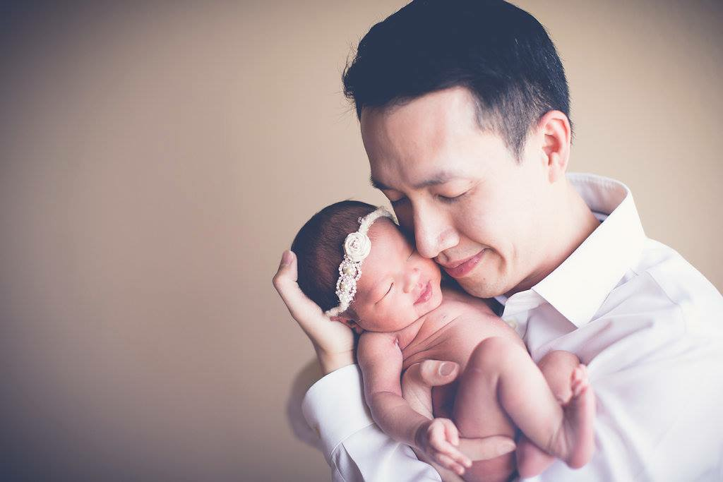 Dr. Le and his baby